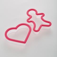 Набор пластиковых форм для печенья 2 предмета АК-632Р/2