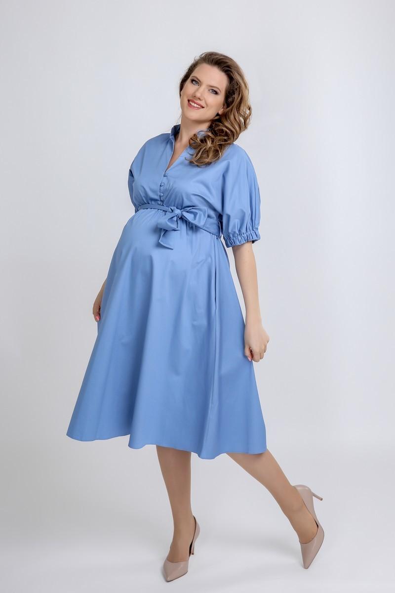 Платье для беременных 09564 светло-голубой