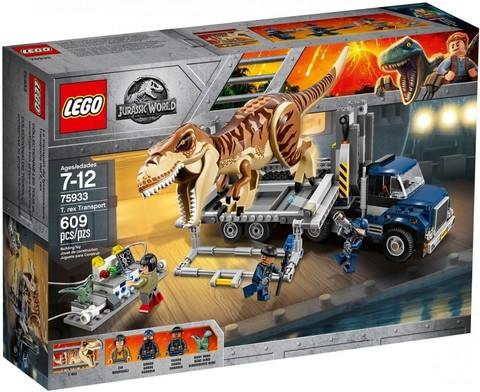 LEGO Jurassic World: Транспорт для перевозки Тираннозавра 75933 — T. Rex Transport — Лего Мир Юрского периода