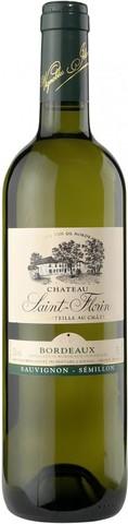 Вино Шато Сен-Флорен геогр.наим. 2012 белое сухое  0,75 л  13% Франция