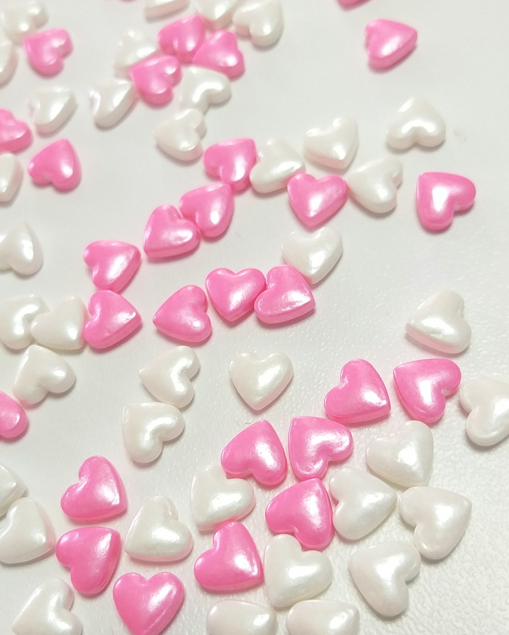 Посыпка кондитерская «Сердца бело-розовые 3Д», 20г