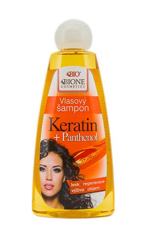 Шампунь для волос Пантенол + Кератин / BIO BIONE Vlasový šampon KERATIN + PANTHENOL, 260 ml
