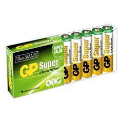 Батарейки GP Super AAA/LR03/24A алкалин., 10 шт/уп. GP24A-B10