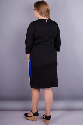 Клавдия. Женское нарядное платье плюс сайз. Электрик.