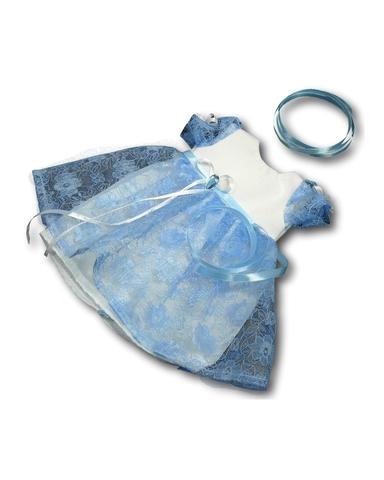 Платье из гипюра - Голубой. Одежда для кукол, пупсов и мягких игрушек.