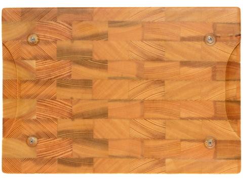 деревянная Торцевая разделочная доска 30х20х3 см лиственница