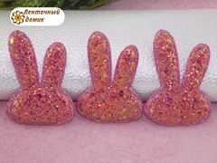 Мягкий декор Зайки конфетные коралловые