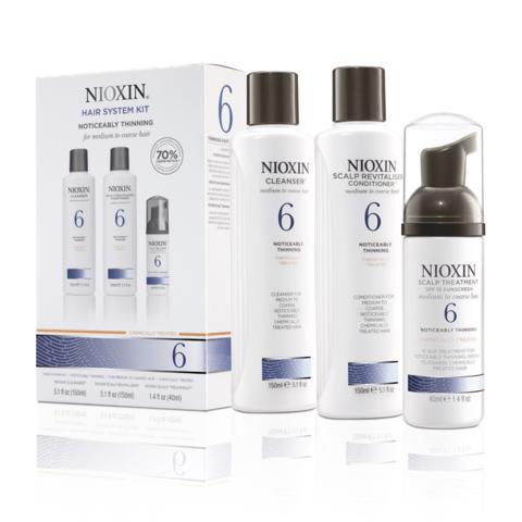 Nioxin Система 6 Набор из 3 продуктов шампунь кондиционер маска купить online