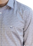 Рубашка из хлопка. Цвет серый/фиолетовый ETRO
