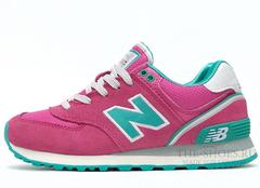 Кроссовки Женские New Balance 574 Pink Turquoise