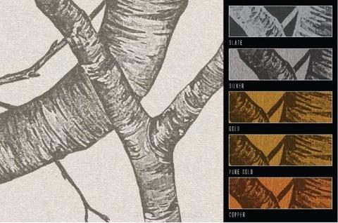 Панно Italreflexes Macro Silver Birch 008 PureGold, интернет магазин Волео