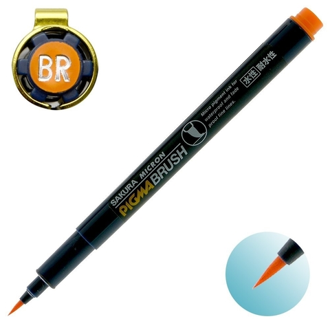 Sakura Micron Pigma Brush (оранжевая)