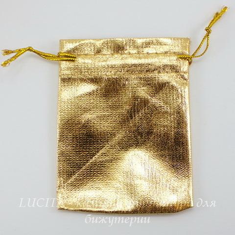 Подарочный мешочек из органзы золотой, 9х6 см