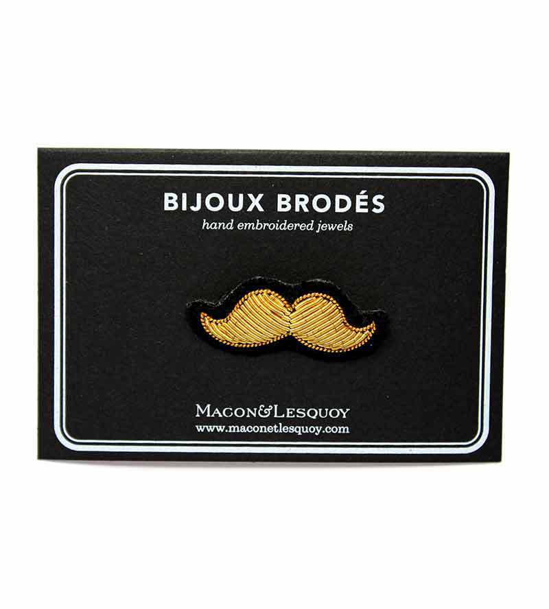 Брошь Gold Moustache Small от Macon&Lesquoy