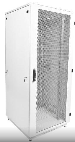 Шкаф телекоммуникационный напольный 38U (600 × 800) дверь перфорированная 2 шт.