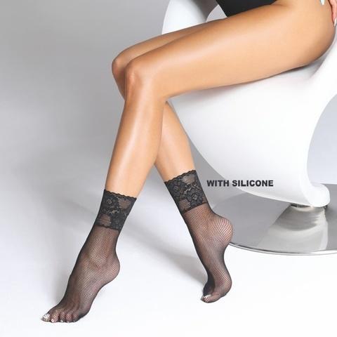 Носки в сеточку с ажурной резинкой Akemi