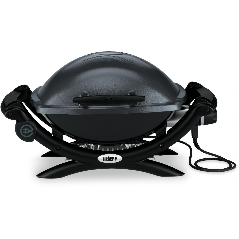 Гриль электрический Weber Q1400, темно-серый.