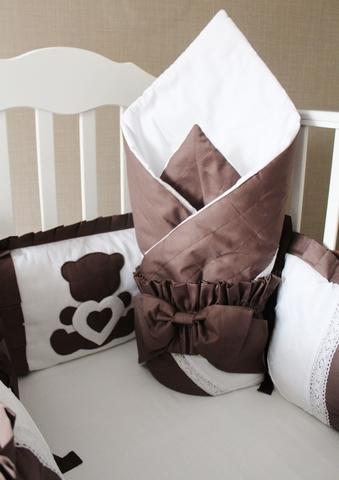 Демисезонное одеяло - конверт на выписку, шоколад