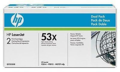 Двойная упаковка картриджей  Q7553XD  для HP LaserJet M2727nf mfp, M2727nfs mfp, P2014, P2015, P2015d, P2015dn, P2015n, P2015x (Ресурс - 2х7000 стр.)
