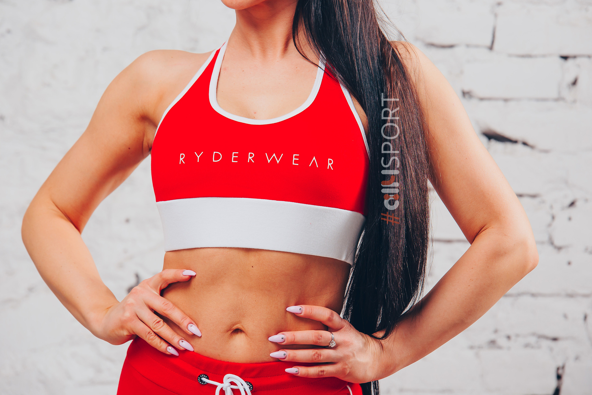 Женский топ Ryderwear BSX Sport Bra Red