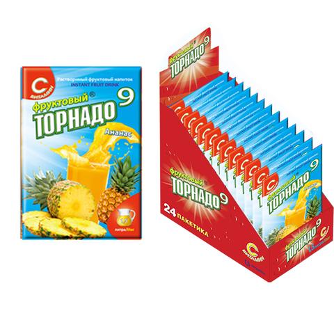 напиток Фруктовый Торнадо 9 ананас, 1кор*12бл*24шт, 9г.