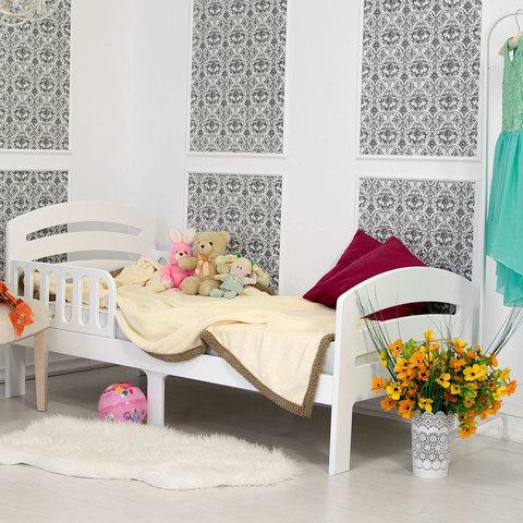 Кровать подростковая Феалта-baby Лахта, белая