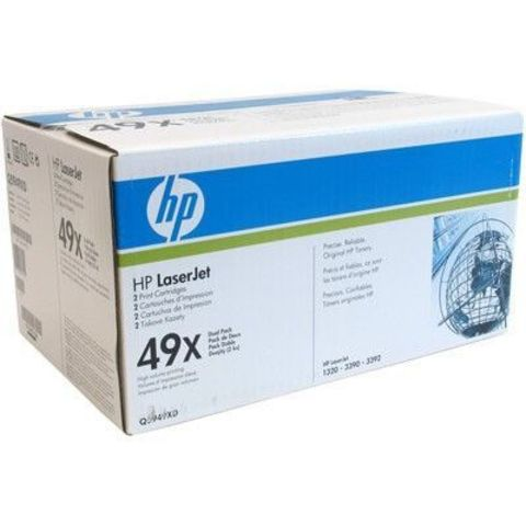 Двойная упаковка картриджей HP Q5949XD для принтера Hewlett Packard LaserJet 1320, 3390, 3392. (ресурс 2x6000 страниц)