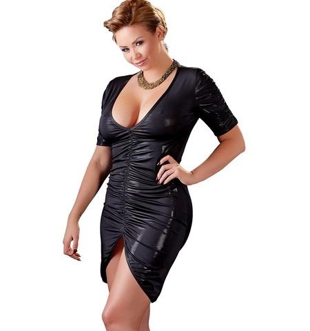 Сексуальное черное платье с блеском (BS)
