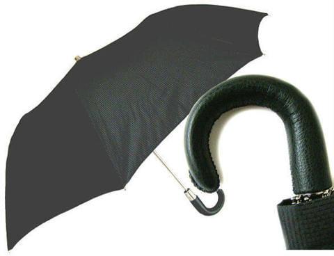 Зонт складной Pasotti Classico Leather handle