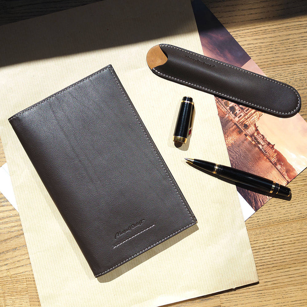 Длинный кошелек Secret+ Easy из натуральной кожи теленка, темно-коричневого цвета