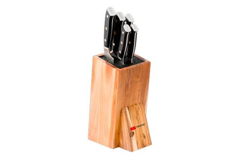 Набор из 5 кухонных стальных ножей Mikadzo Yamata Kotai и универсальной подставки