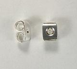 Заглушки для серег, 5,5x4 мм, посеребренные, 1 пара