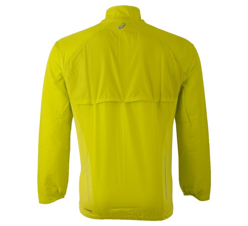 Ветровка Asics Woven Jacket yellow мужская back