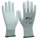 Перчатки трикотажные нейлоновые с карбоновой нитью с полиуретановым покрытием (Nitras)
