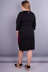 Клавдия. Нарядное платье больших размеров. Бордо.