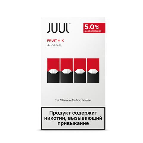 Картриджи JUUL Фруктовый микс 5% 4 шт