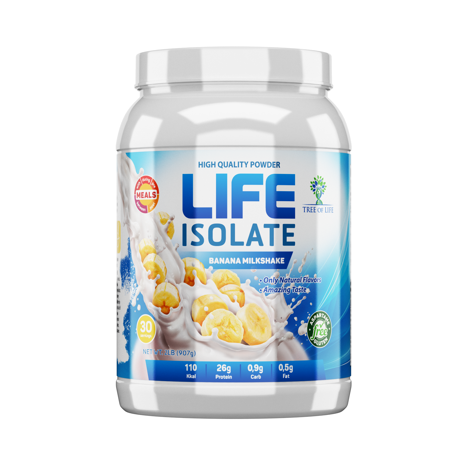 Life Isolate 2lb Banana Milkshake