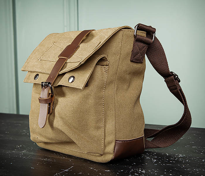 BAG503-2 Мужская сумка планшет из плотной ткани фото 06