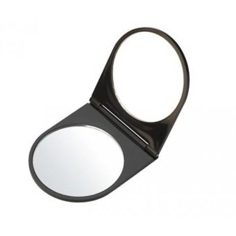 Зеркальце карманное черное складное