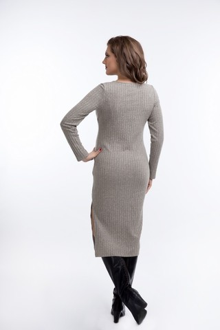 Платье 08921 бежевый