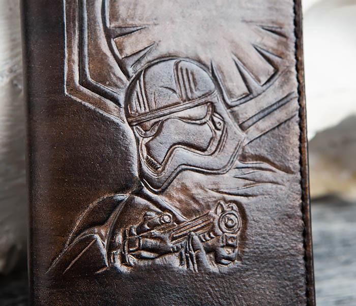 BC153 Обложка на паспорт по мотивам Star Wars со штурмовиком фото 02