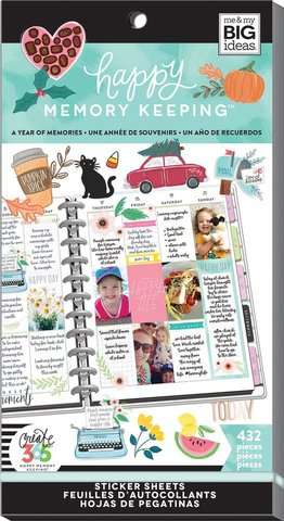 Блокнот со стикерами для ежедневника Create 365 Happy Planner Sticker Value Pack-BIG - A Year of Memories- 432 шт