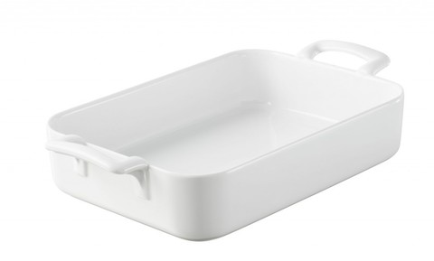 Прямоугольное фарфоровое блюдо для запекания белое, артикул 005569, серия Belle Cuisine