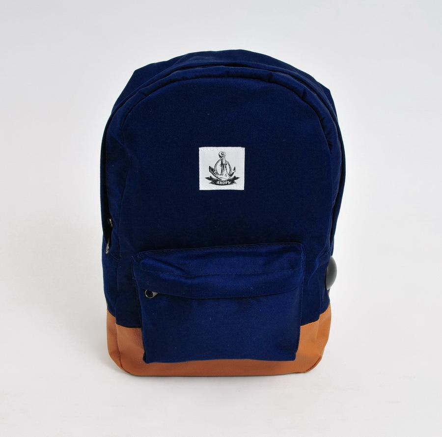 Рюкзак ЯКОРЬ Малый бот II ранга парусиновый Темно-синий