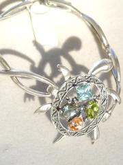 Черепаха (серебряный браслет)