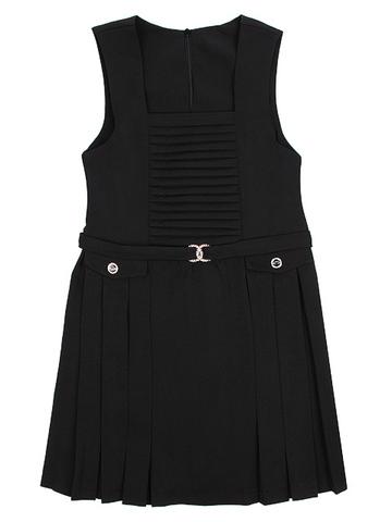 ОД305 сарафан для девочек, черный