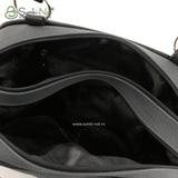 Сумка Саломея 201 французский сфинкс серый + черный