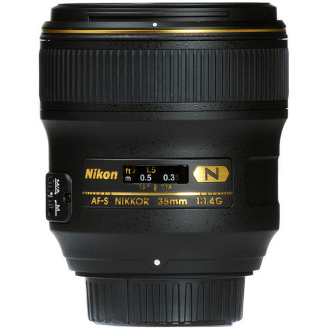 Объектив Nikon AF-S 35mm f/1.4G Black для Nikon