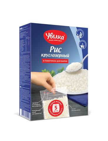 """Рис круглозерный """"Увелка"""" 5*80г"""