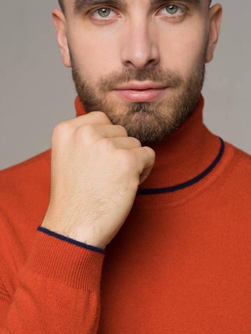 Orange male jumper made of 100% cashmere - фото 3